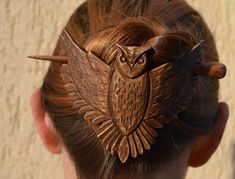 Hand Carved Hair Barrettes, by Ivaylo Zlatev on Etsy