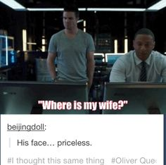 #Olicity it's like that's the only thing he came down for and then the wifey is gone