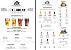 CARTA PICADAS - Bogotá Beer Company Drink List, Drink Menu, Text Layout, Poster Layout, Cool Poster Designs, Brochure Food, Bubble Tea Shop, Small Cafe Design, Food Menu Design