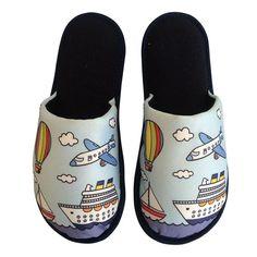 Pantufa Infantil Céu e Mar Azul Marinho > Conforto Store