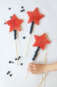 Fourth of July Watermelon Wands for this kids this Independence Day!