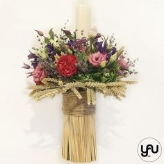 Lumanare botez trandafiri gradina clematis hortensii- LB72 Clematis, Grapevine Wreath, Grape Vines, Christening, Wedding Ideas, Concept, Wreaths, Candles, Flowers