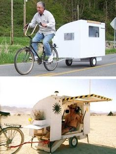 This is the guy who inspired me to build my Trestles toy hauler Small Camping Trailer, Diy Camper Trailer, Tiny Camper, Bike Trailer, Cool Campers, Volkswagen Bus, Eco Construction, Kombi Home, Shelter Design