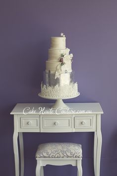 Cake Central - Silver Winter Wedding -