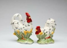 5 inch Black and White Set of Rooster Salt and Pepper Shakers by CG. $18.99. This gorgeous 5 inch Black and White Set of Rooster Salt and Pepper Shakers has the finest details and highest quality you will find anywhere! 5 inch Black and White Set of Rooster Salt and Pepper Shakers is truly remarkable.5 inch Black and White Set of Rooster Salt and Pepper Shakers Details:Condition: Brand NewItem SKU: SS-CG-56541Dimensions: Shakers: Salt: H: 5 Pepper: H: 4 (inches)Crafted wit...