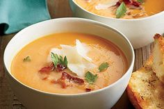 Fresh, fast and under 400 calories per serving soups! Cheesy potato is delish!!