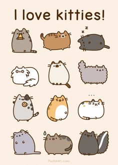 I WILL get a pusheen-style tattoo of my future cat! Maybe a pusheen apricot? Kawaii Pusheen, Gato Pusheen, Pusheen Love, Kawaii Cat, Fat Cats, Cats And Kittens, Crazy Cat Lady, Crazy Cats, Cat Stickers