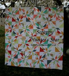scrappy hunters star quilt ~ this looks pretty cool (of course, I'd want to add another row so it's not square)