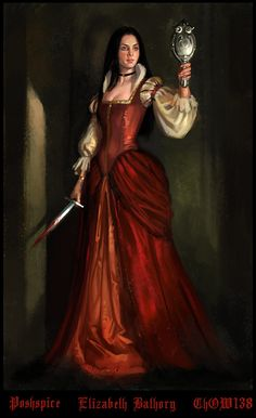 "Countess Elizabeth Báthory de Ecsed (Báthory Erzsébet in Hungarian, Alžbeta Bátoriová in Slovak; 8 August 1560 – 21 August 1614) was a countess from the renowned Báthory family of nobility in the Kingdom of Hungary. She has been labelled the most prolific female serial killer in history and is remembered as the ""Blood Countess,"" though the precise number of victims is debated."