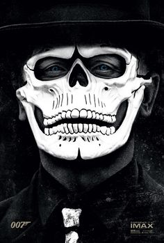 James Bond 007 Spectre Daniel Craig Poster Imax Day Of The Dead Mask Skull Movie 007 Contra Spectre, Spectre Movie, Spectre 2015, 007 Spectre, Daniel Craig James Bond, Skyfall, Milla Jovovich, Ant Man Avengers, Movie Posters