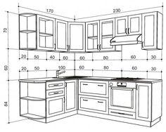 Кухни с размерами дизайн 168