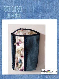 Jeans com borboletas 3D!!! ^^