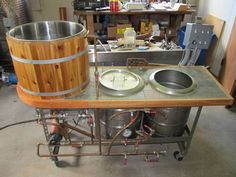 "My homebrew system, the ""Time Machine"" has made a lot of people happy over the years... #homebrewingsetup"