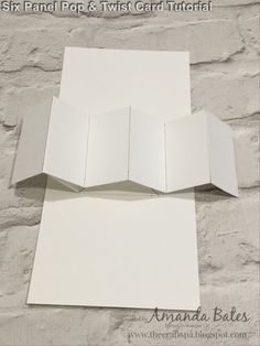 The Craft Spa - Stampin' Up! UK independent demonstrator : Six Panel Pop & Twist Card Tutorial Fun Fold Cards, Pop Up Cards, Folded Cards, 3d Cards, Wedding Cards Handmade, Card Box Wedding, Handmade Cards, Card Making Templates, Making Cards