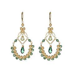 Sophia & Chloe Divine Erenite and Stardust Earrings ($240) ❤ liked on Polyvore