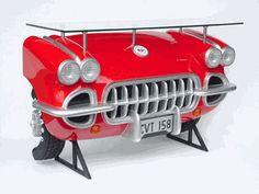 1957 Chevy Corvette Red Bar Table