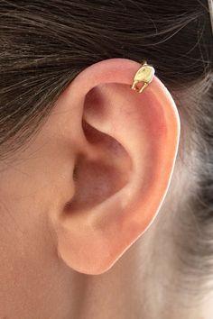 Mini earcuff  gold-plated by TatjanaAppelhans on Etsy