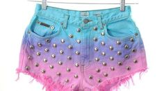 Punk Pastel Shorts  The Kaleidoscope Eyes Ombre Shorts are Incredibly Chic #shorts #fashion #ombre #punk