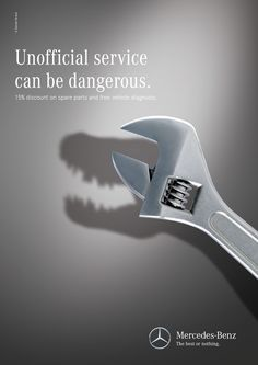 Print ads for Mercedes-Benz official service