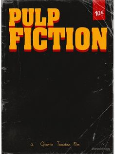 a fan cover of the cult film of quentin tarantino: Pulp Fictiion. Tarantino Films, Quentin Tarantino, Framed Prints, Canvas Prints, Skin Case, Pulp Fiction, Classic Hollywood, Iphone Cases, Cover