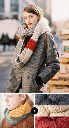 Der Schal! Jetzt weiß ich endlich wohin mit all meinen Wollresten. :-) Stricken - Schal - Wollreste
