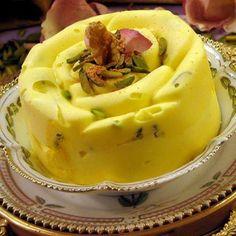 Iranian saffron ice cream