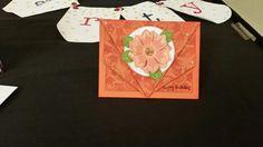 3d shoebox card flower happy birthday folded