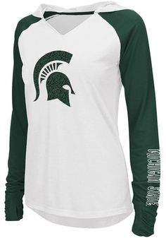 Colosseum Michigan State Spartans Womens White Cher Hoodie