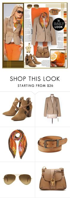 """The daily look"" by ganing ❤ liked on Polyvore featuring Alice + Olivia, H London, Evan Picone, Laura Biagiotti, Wrangler, Ray-Ban, Chloé, Movado, blazer and polyvoreatitsbest"