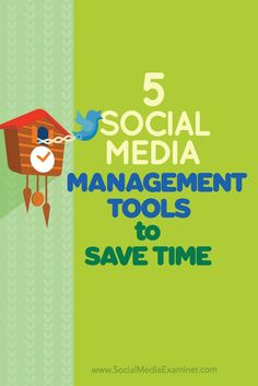 Do you need to streamline your social media marketing tasks?  In this article youll discover five social media management tools to streamline and consolidate your social media marketing efforts. Via @smexaminer.com