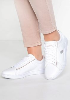 Lacoste CARNABY EVO - Trainers - white/light pink for Free delivery for orders over Lacoste Trainers, Lacoste Sneakers, Evo, White Light, Pink, Shoes, Baskets, Fashion, Shoe