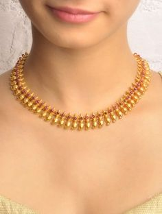 Simple Gold Necklace Designs Jewellery Jewelry Gold Necklace