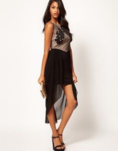 Lipsy Contrast Skirt Dress