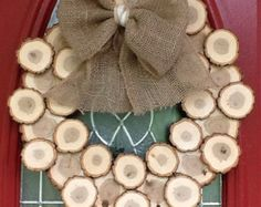 "SMALL 16""-18"" Wood Disk Wreaths!"
