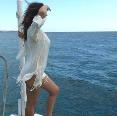 Natural Handwoven Turkish Towel Beach Dress by TheAnatolian, $55.00