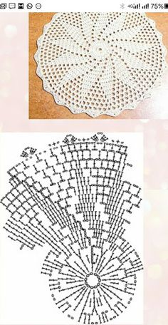 Crochet Motif Patterns and motifs: Crocheted motif no. Crochet Doily Diagram, Crochet Motif Patterns, Crochet Mandala, Crochet Chart, Thread Crochet, Crochet Flowers, Crochet Home, Crochet Gifts, Sunburst Granny Square