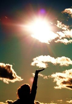 the sun #Light. reach for the clouds and if you fail, you will always be higher were before.