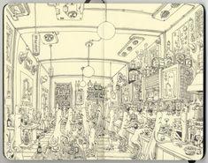 carnet croquis 08 720x567 Les carnets de croquis de Mattias Adolfsson