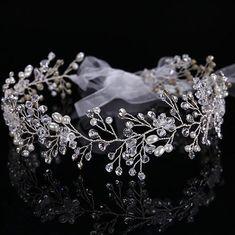 Bride Bridesmaid Wedding Party Prom Flower Crystal Headband Tiara CT1314