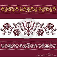 Polish pattern folk in Podhale inspiration