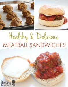 A super healthy meatball sandwich recipe. This is seriously one of my favorite weeknight meals.