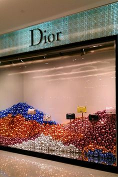 Dior Christmas Windows, Emporium Bangkok Visual Merchandiser, styling and still life designs