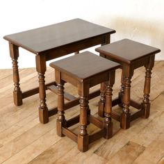 17th Century Style Oak Nest Of Tables http://witchantiques.com/17th-century-style-oak-nest-of-tables.html