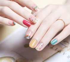 ツ⌇ɴᴀɪʟ& in 2020 (With images) ツ⌇ɴᴀɪʟ& in 2020 (With images) Diy Nails Cute, Love Nails, Cute Nail Art, Pink Nails, Pretty Nails, Gel Nails, Asian Nails, Korean Nail Art, Kawaii Nails