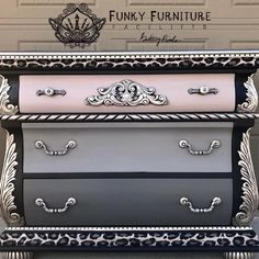 Brittany Pistole - Funky Funriture Facelifts - Grown & Sexy 128 Brittany Pistole - Funky Funriture F Hand Painted Furniture, Funky Furniture, Refurbished Furniture, Paint Furniture, Repurposed Furniture, Furniture Projects, Furniture Makeover, Vintage Furniture, Furniture Design