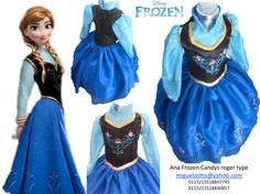 New Girls dress party Disney kids adults toddler Halloween Anna Ana Frozen Fever 2 3 costume ball custom gown flower princess attire outfit deluxe dressup cosplay tailor handmade glitz pageant coronation disguise outwear gorgeous presentation 3 years cupcake prom quinceanera cheap graduation blue ice queen princess 2017 2018 Elsa sister Princesa Elsa congelados disney coronacion disfraz vestido atuendo azul presentacion 3 años paje graduacion barato economico mexico df miguelzottoyahoocom