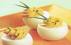 Receta huevos rellenos, entrada