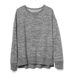 Gap Women Slouchy Pullover Sweatshirt (€28) ❤ liked on Polyvore featuring tops, hoodies, sweatshirts, sweaters, clothing - ls tops, shirts, camisas, space dye grey marl, tall and slouchy shirts