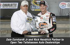 Dale Jr and Rick Hendrick Open Two Auto Dealerships