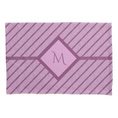 Monogram Lavender Wine Pillowcase